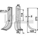 Schrägbogenmesser 273x105 RS für Howard 9942