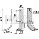 Schrägbogenmesser 273x105 LS für Howard 9941