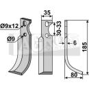 Bogenmesser 185x80  RS für Goldoni