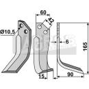 Fräsmesser 165x102x15 RS für Goldoni 4312