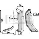 Fräsmesser 165x102x15 LS für Goldoni 4313