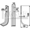 Bogenmesser 180x70 RS für Goldoni 2064