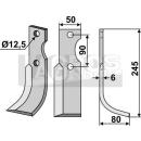 Fräsmesser 245x80 RS für Bertolini S.310/S-12522/3