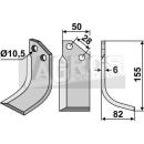 Fräsmesser 155x82 RS für Bertolini S.315-13014/5