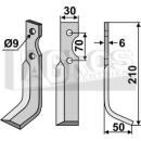 Hackmesser 210x50 RS für Gutbrod 075.73.026
