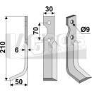 Hackmesser 210x50 LS für Gutbrod 075.73.027