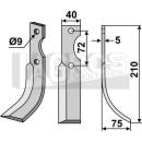 Bogenmesser 210x75 RS für Hako 90-05836-3