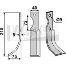 Bogenmesser 210x75 LS für Hako 90-5837-1
