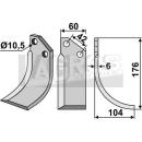 Bogenmesser 176x104 RS für Goldoni 5324