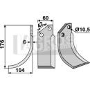 Bogenmesser 176x104 LS für Goldoni 5323
