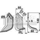 Hackmesser 140x80 RS für Holder H7