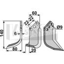 Hackmesser 140x80 LS für Holder H7