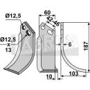 Bogenmesser 187x103 RS für Goldoni 9418