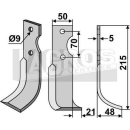 Fräsmesser 215x48 RS für Agria Typ 6000