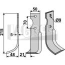 Fräsmesser 215x48 LS für Agria Typ 6000