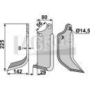 Fräsmesser 225x142 LS für Maschio 01110427