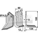 Fräsmesser 180x134 RS für Celli 722533