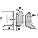 Fräsmesser 180x134 LS für Celli 722534
