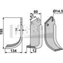 Bogenmesser 195x134 LS für Celli 422515