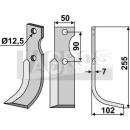 Bogenmesser 255x102 RS für Ferrari 74-75HP24