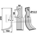Bogenmesser 255x102 LS für Ferrari 74-75HP24