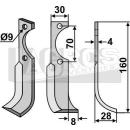 Fräsmesser 160x28  RS für Agria