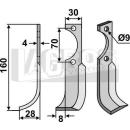 Fräsmesser 160x28  LS für Agria