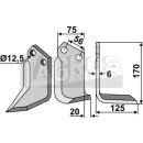 Hackmesser 170x125 RS für Holder