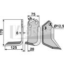 Hackmesser 170x125 LS für Holder