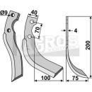 Schrägbogenmesser 200x75 RS für Iseki