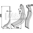 Schrägbogenmesser 200x75 LS für Iseki